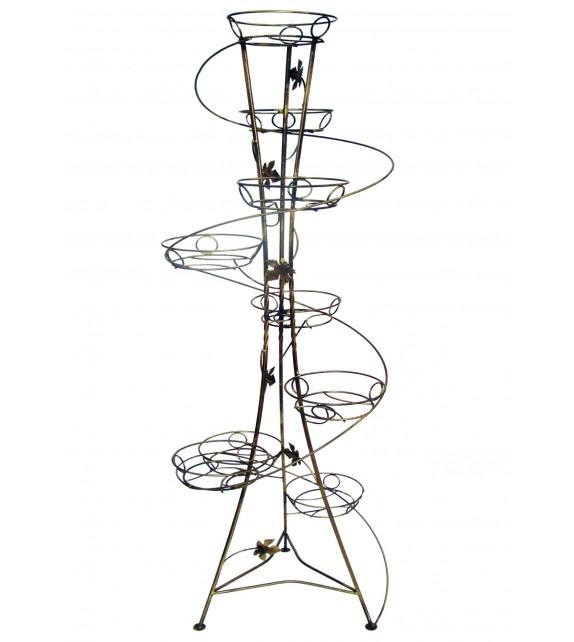 Kovácsoltvas virágtartó spiral 9 W-010