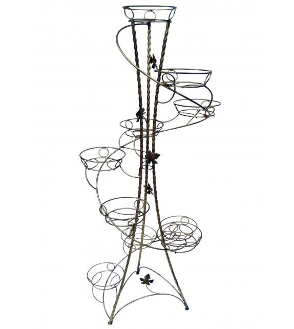 Kovácsoltvas csavart virágállvány 10 W-018