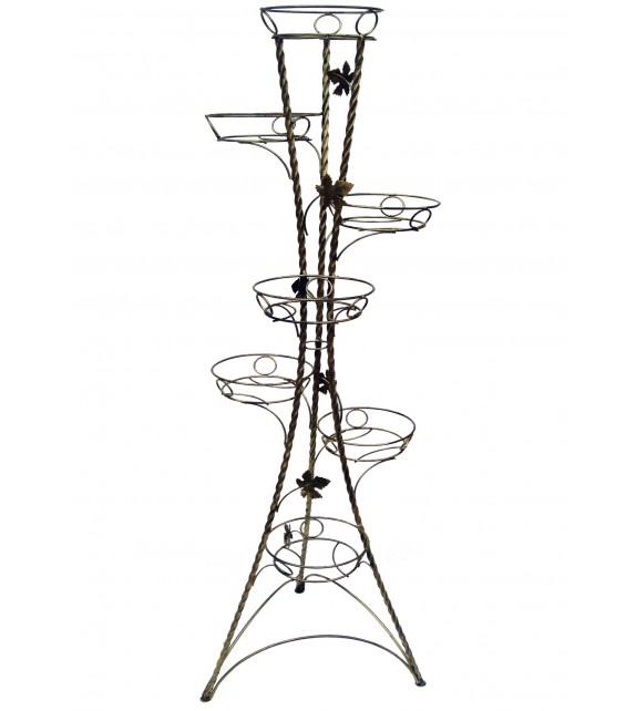 Kovácsoltvas csavart virágállvány 7 W-022