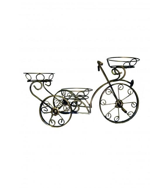 Kovácsoltvas virágtartó kerékpár C-032