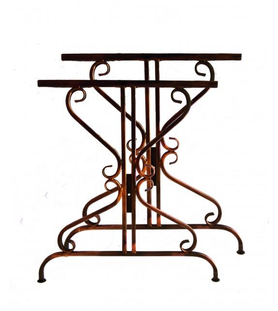 Kovácsoltvas asztal keret V-005